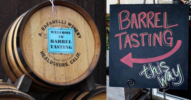 Barrel Tasting 2016 signs