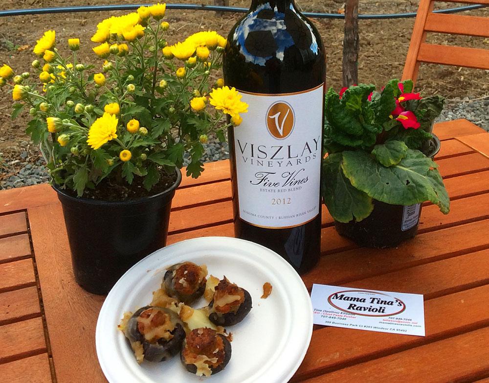 Viszlay's Grilled Filet Mignon over Portobello and Brie Crostini from Wine & Food Affair 2014
