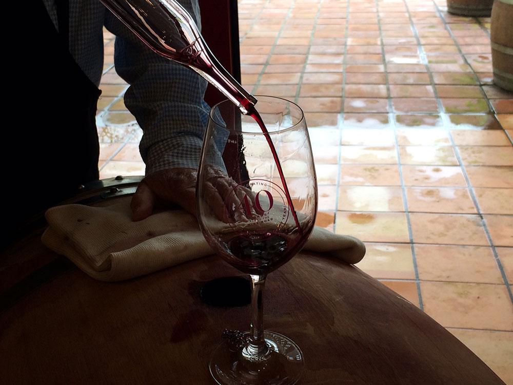 Barrel tasting at Hanna Winery