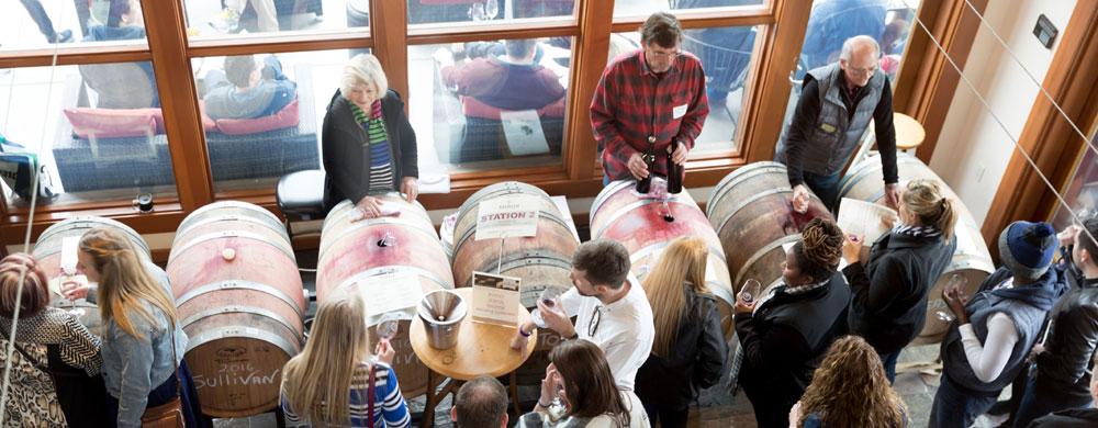 Barrel Tasting at Mazzocco Winery 2017