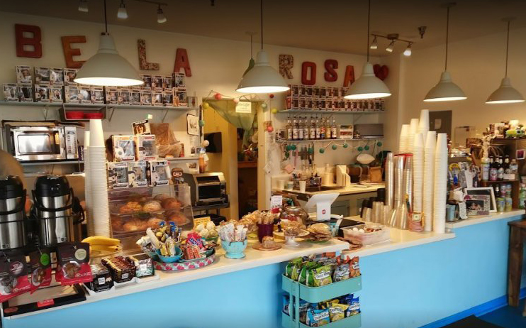 Interior view of the Bella Rosa Coffee Shop.