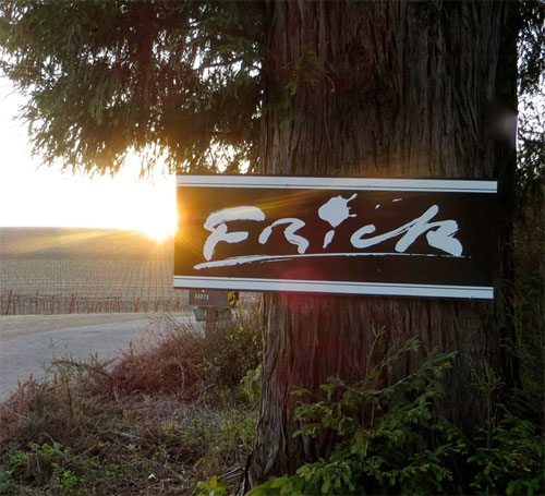 Frick Winery sign