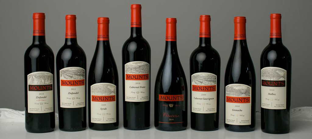 Mounts Family Winery's lineup of wines