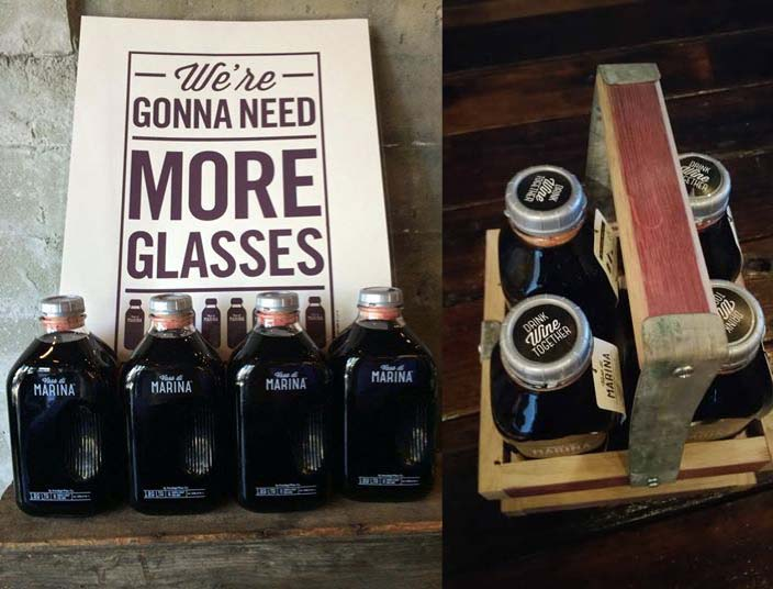 Check out Portalupi's Vaso di Marina bottles and carry crate