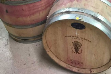 Recycled barrels from Francis Ford Coppola Winery