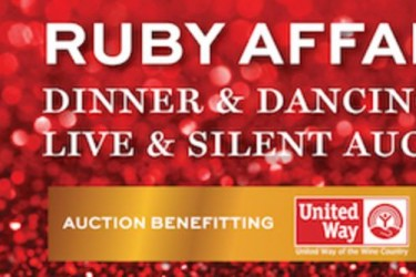 Ad for the Wine Road's Ruby Affair