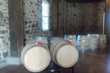 Barrels awaiting tasters for Barrel Tasting along Sonoma County's Wine Road