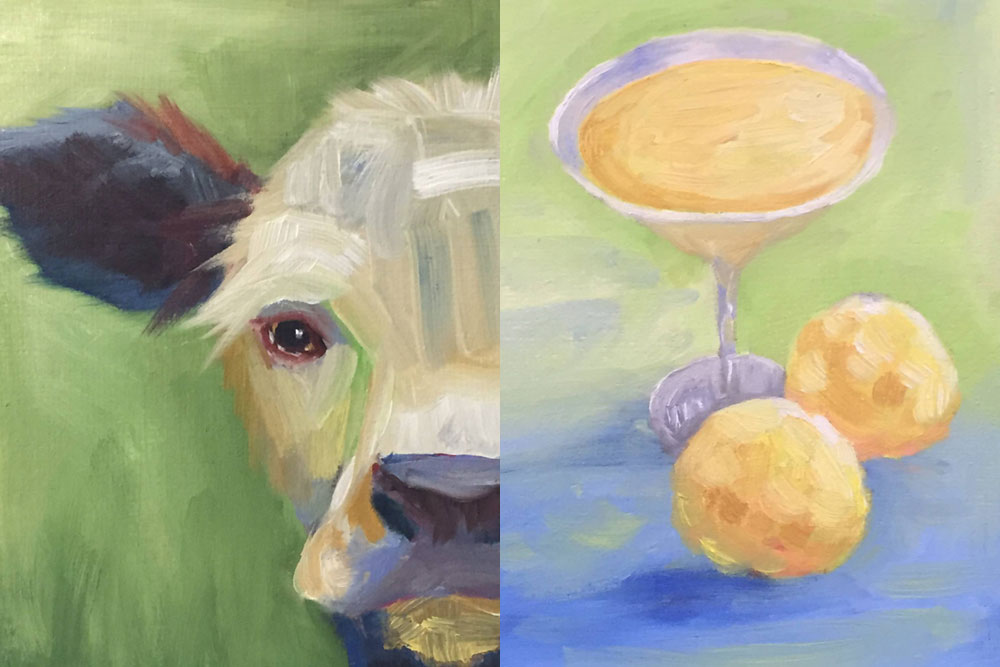 Two painting by artist Nancy Woods