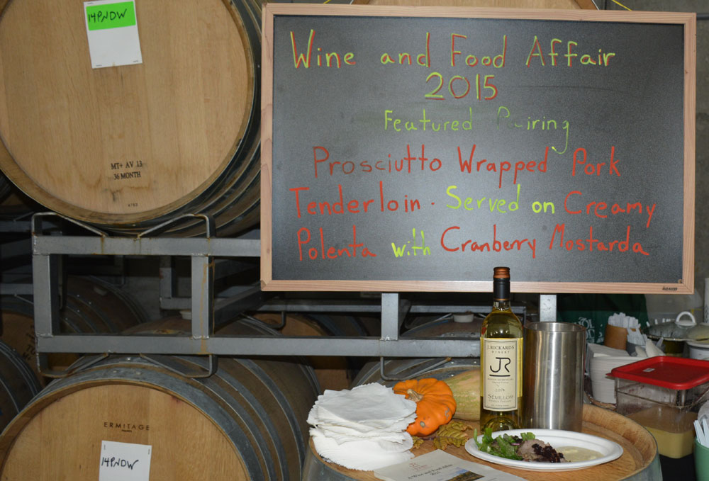 2015 Wine & Food Pairing at J Rickards Winery in Alexander Valley