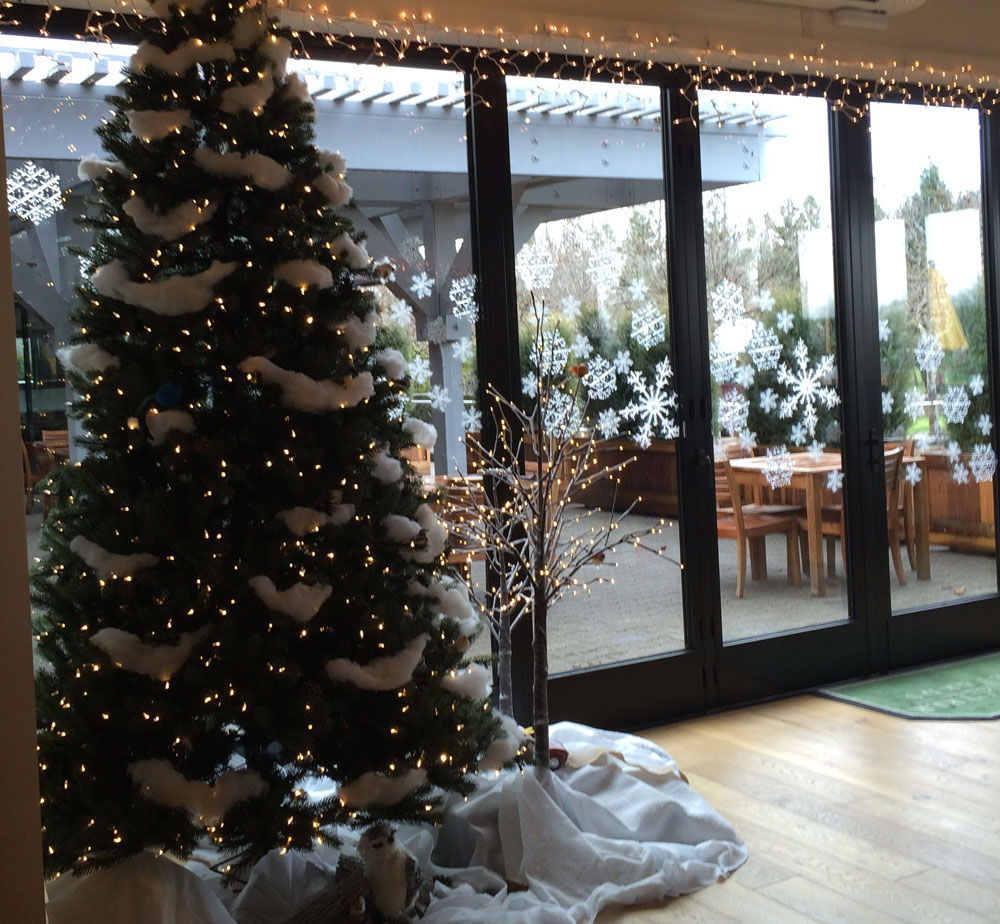 Christmas decorations at Sonoma-Cutrer