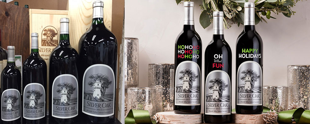 Silver Oak winery offers a range of large format bottles, etched bottles and many other gift items in their tasting room and online.