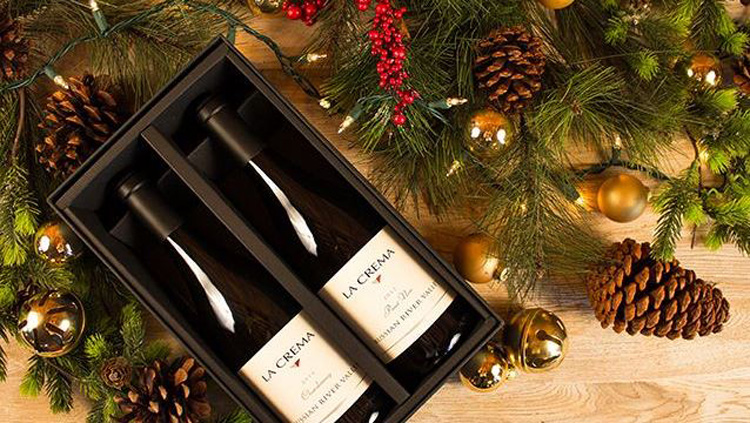 One of La Crema's holiday packages available in their new tasting room on Slusser Road.