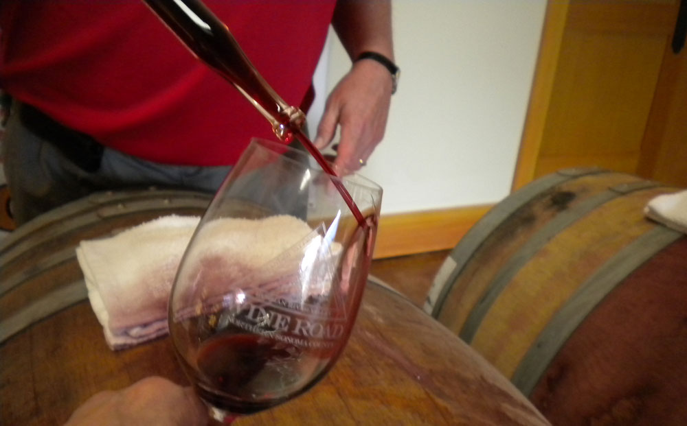 Enjoy wine directly from barrel poured by winemakers or the cellar staff