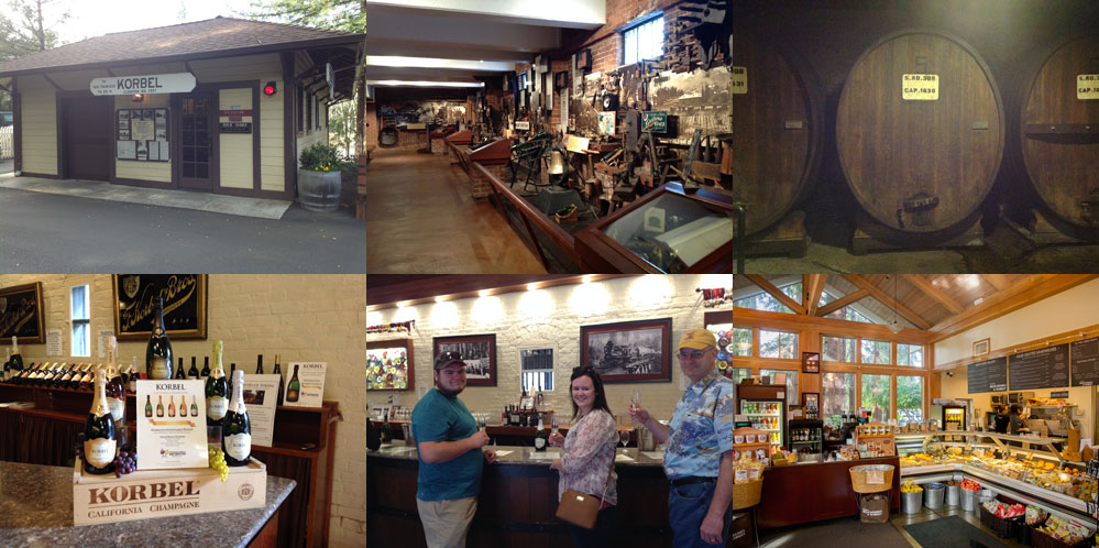 A few highlights from the Korbel tour and tasting.