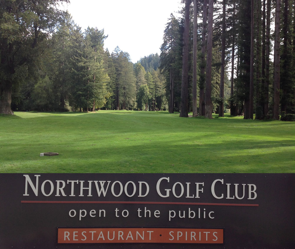 Fairway and sign for Northwood Golf Club