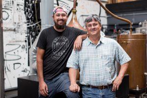 Two men from Sonoma Cider in Healdsburg CA