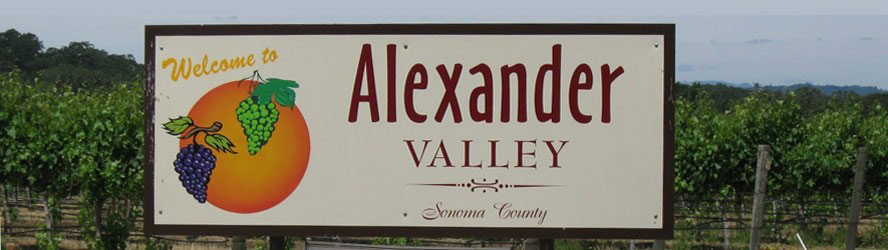 Welcome to Alexander Valley sign