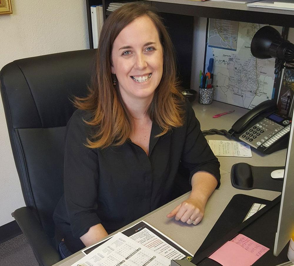 Laura Stafford, Wine Road's concierge extraordinaire