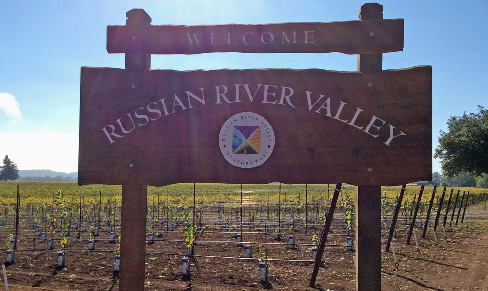 Russian River Valley Welcome sign