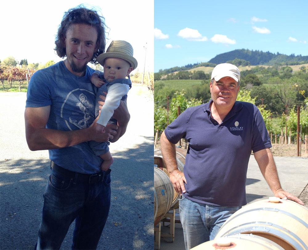Ryan Schmaltz, Trattore Farms and John Viszlay, Viszlay Vineyards