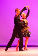 Lucy dancing with Zach Crawford