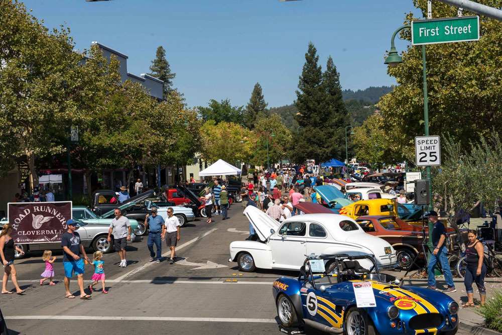 Cloverdale, CA car show