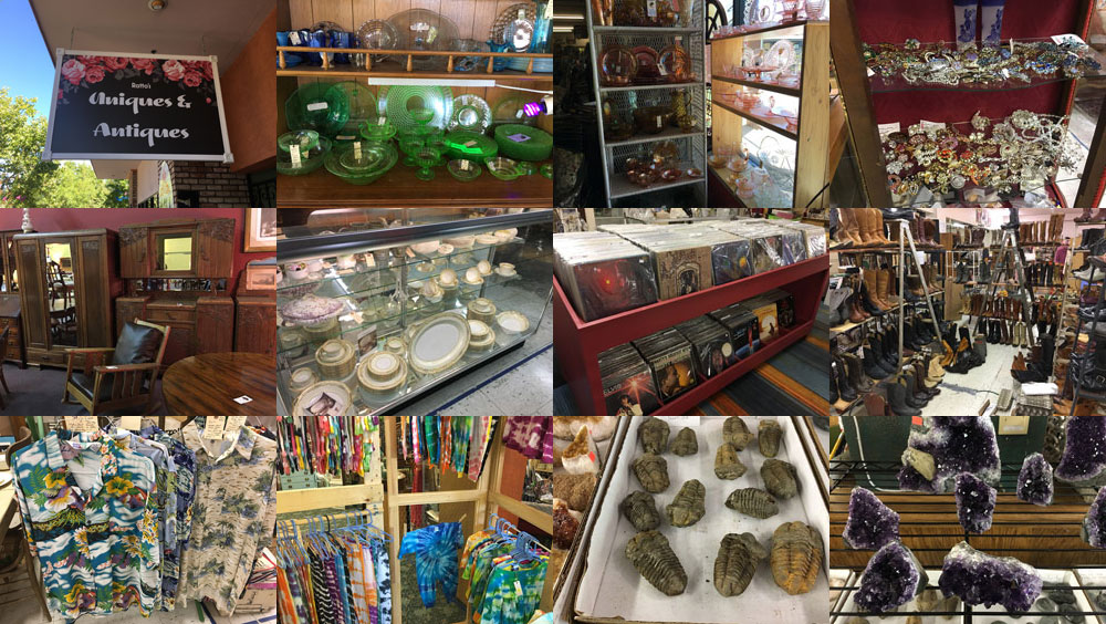 A glimpse of the finds at Uniques and Antiques in Cloverdale.