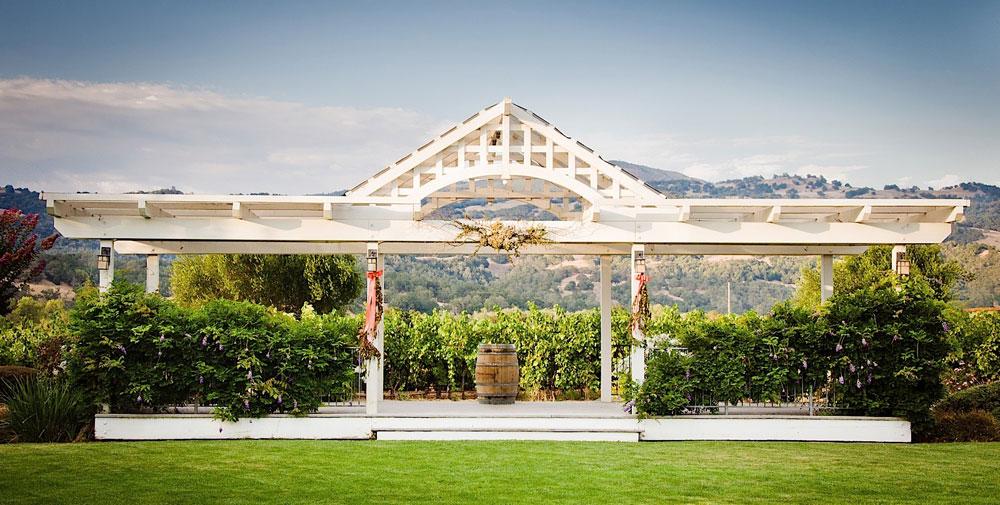 A view of the wedding vista at Geyserville Inn.