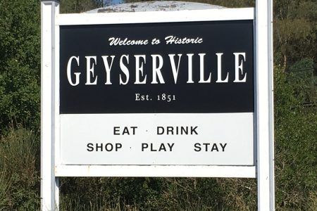 Welcome to Geyserville, California