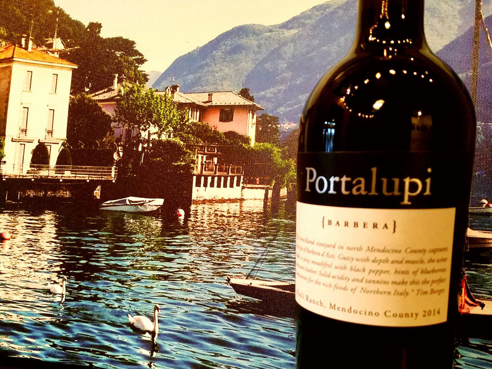 Can't go to Italy, then drink a great Barbera while enjoying the view (even if it is a painting)