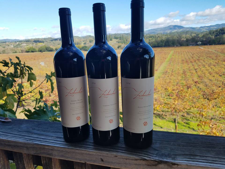 Zichichi's Cabernet looks as inviting as the view from their tasting room deck