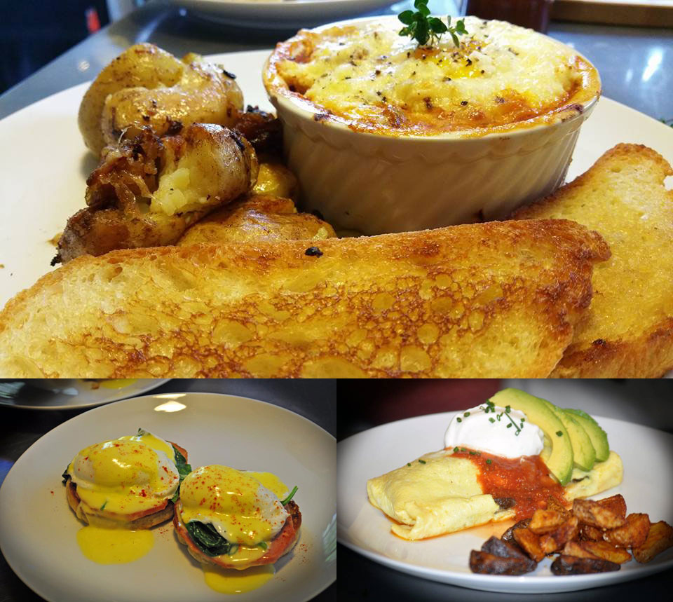 Just a few of the delicious breakfasts served at Kelley & Young Wine Garden Inn