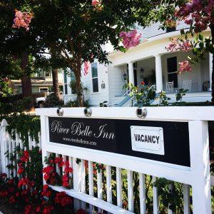 Sign for the River Belle Inn in Healdsburg, CA