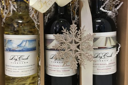 Three Dry Creek Vineyard wines in a gift box