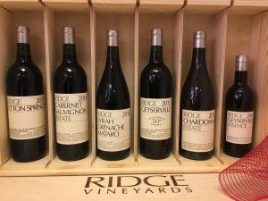 Wooden gift box of Ridge Wines