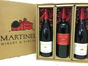Three bottle gift pack of Martinelli wines