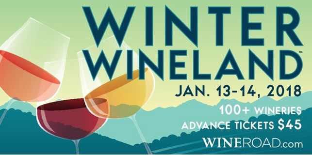 sign for Winter Wineland Jan.13-14, 2018