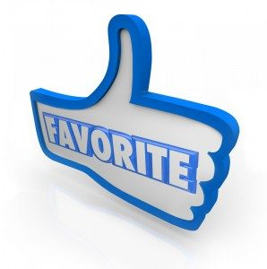 sign of a thumbs up with the word Favorite on it