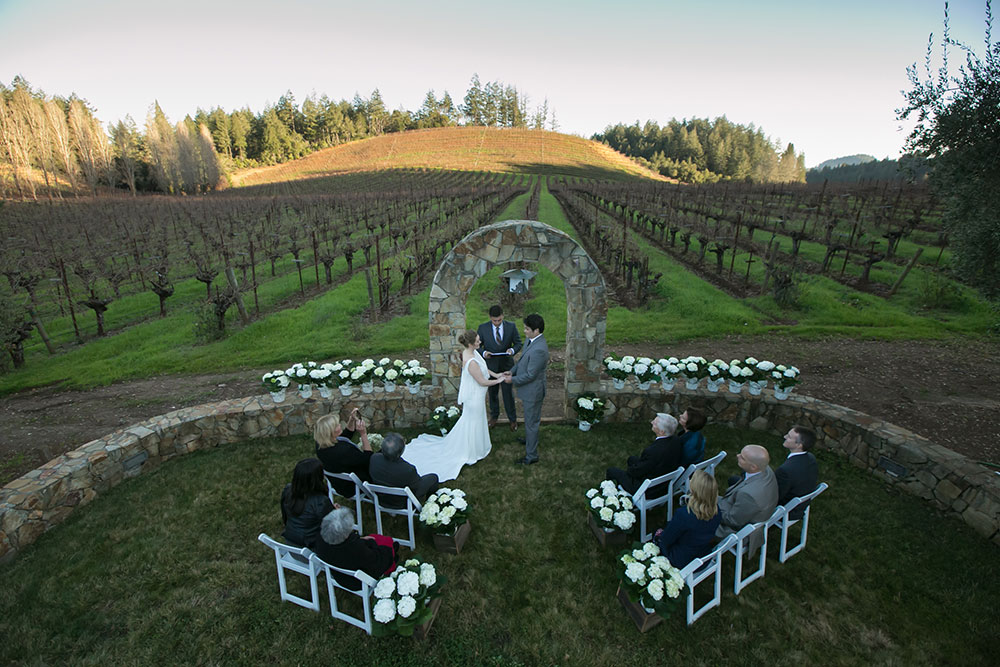 Another Wilson Artisan Winery elopement setting.