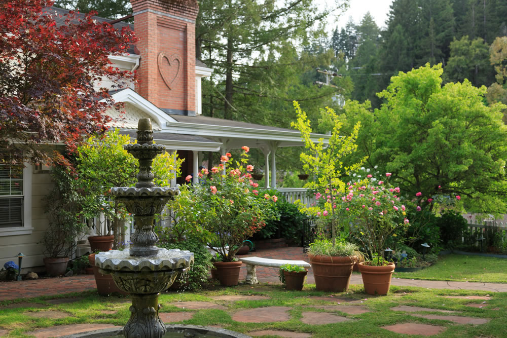 Even the chimney at the Inn at Occidental is romantic.