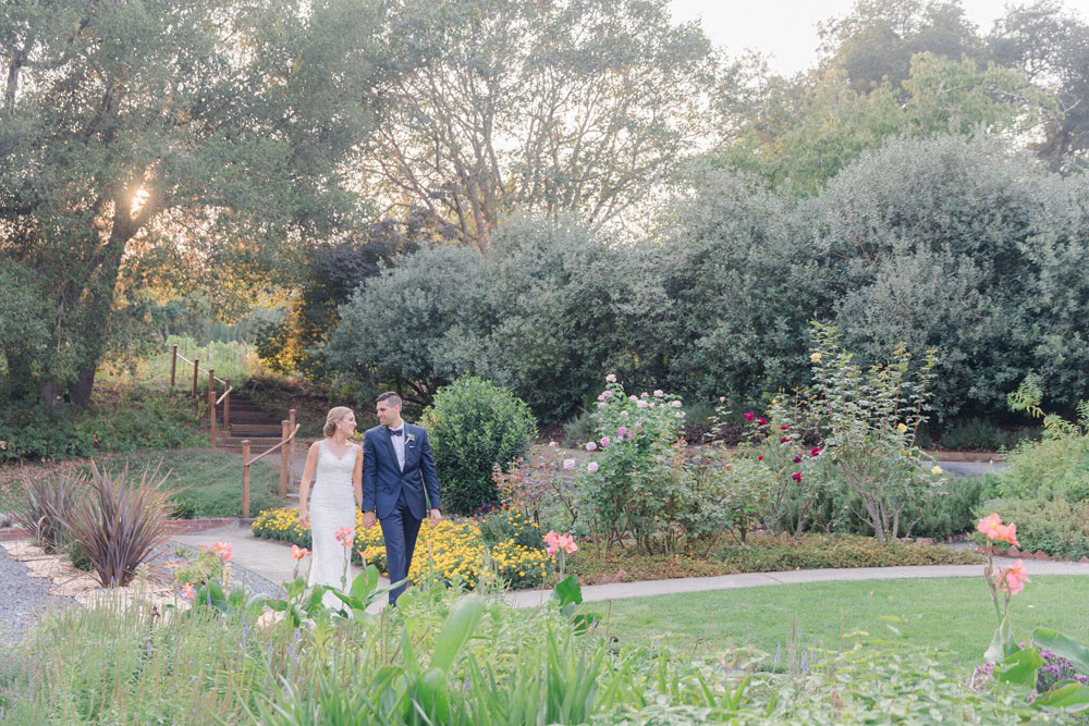 The Madrona Manor grounds and gardens provide a beautiful backdrop for an elopement ceremony.