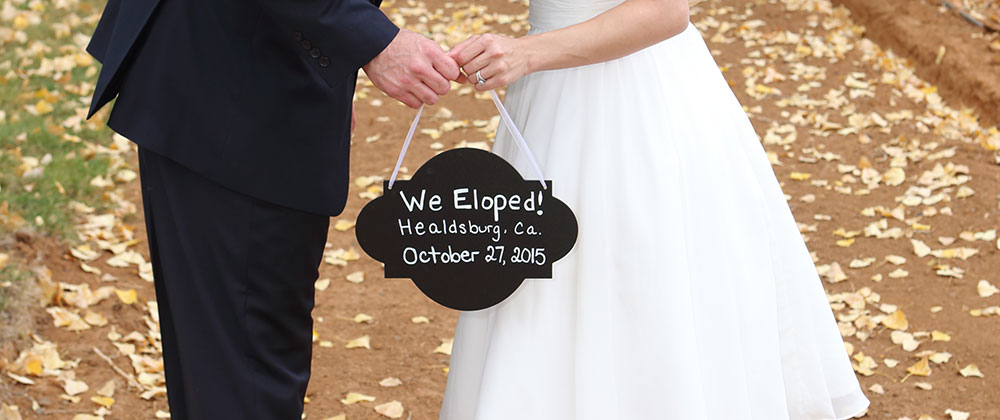 Elopements in Wine Country means you are already in the perfect spot for your honeymoon.