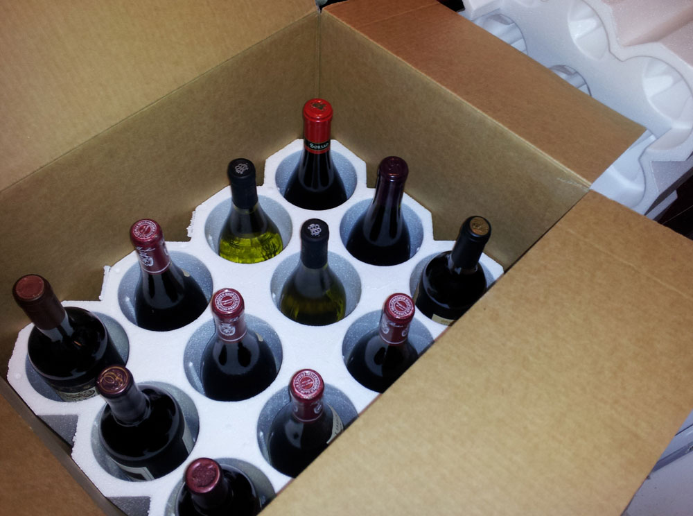 Wine club shipments can be delivered to your doorstep.