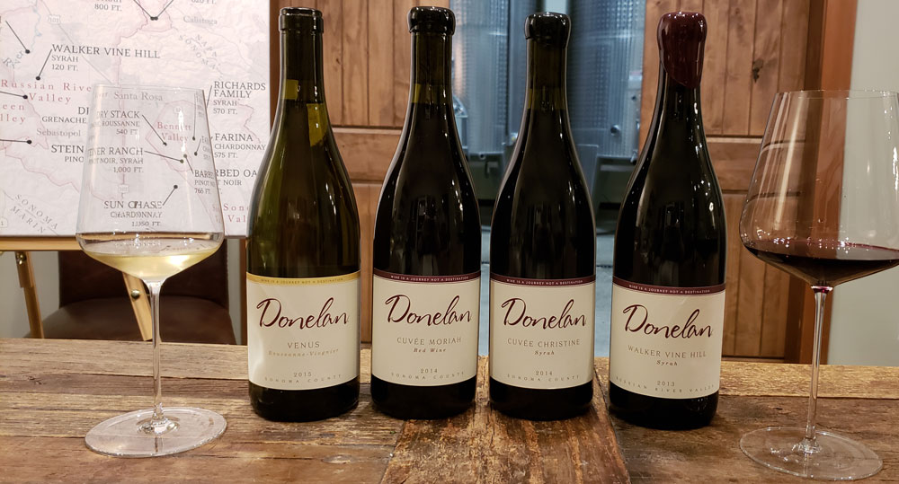 Donelan Family Wines offers Rhône varietals and blends that garner critic scores of 90+ points.