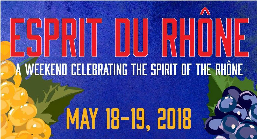 Be sure to save the date for the Wine Road's Esprit du Rhone.