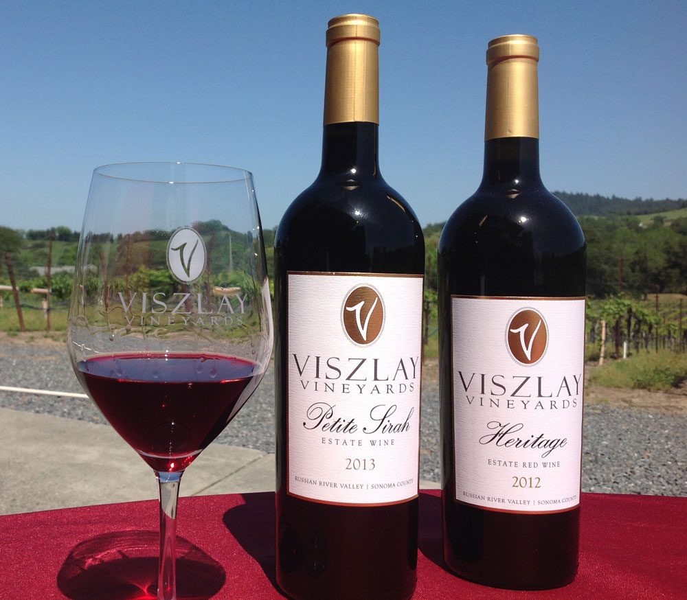 Viszlay Vineyards will be pouring a delicious Petite Sirah and a Rhône blend.
