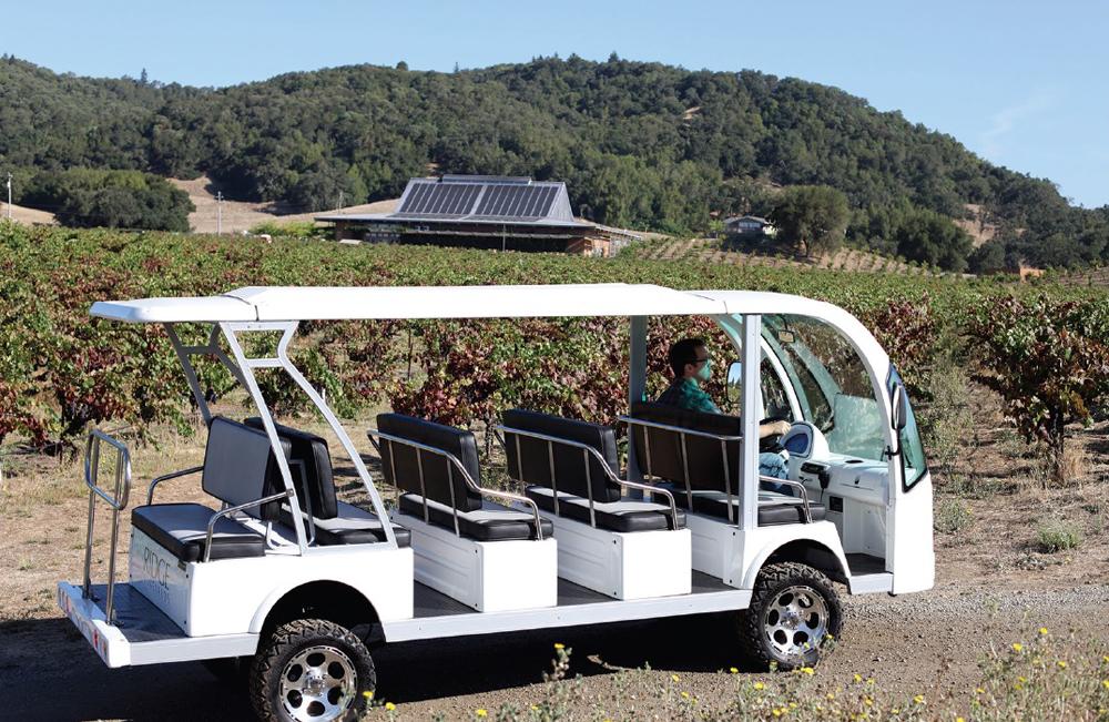 Ridge Vineyards tour vehicle.