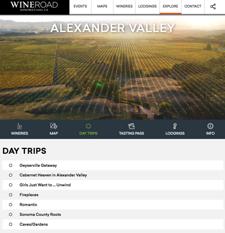 Enjoy one of several day trips in Alexander Valley.