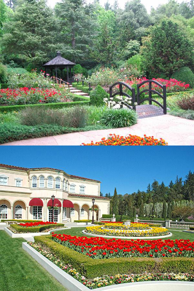 The gardens at Ferrari Carano are a feast for the eyes.