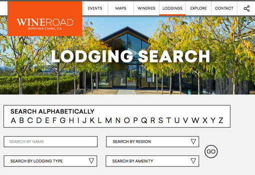 The lodging search page is the perfect online tool to find a place to stay that fits your needs.